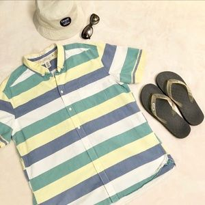 H&M 90s Vibes Oxford Button Down Short Sleeve